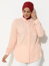 Powder - Point Collar - Plus Size Tunic