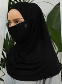 Black - Plain - Viscose - Mask
