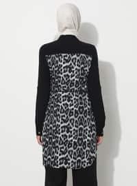 Gray - Leopard - Point Collar - Tunic