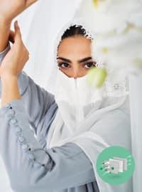 Ecru - Lace - Mask - Maske
