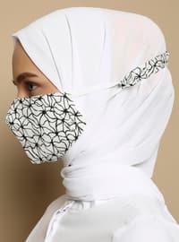 Multi - Striped - Geometric - Cotton -  - Instant Scarf -  Maske