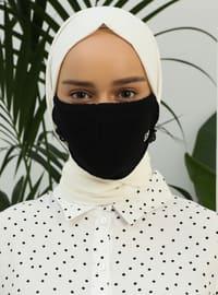 Black - Plain - Mask - Maske
