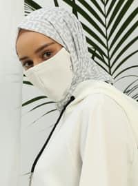 White - Plain - Mask