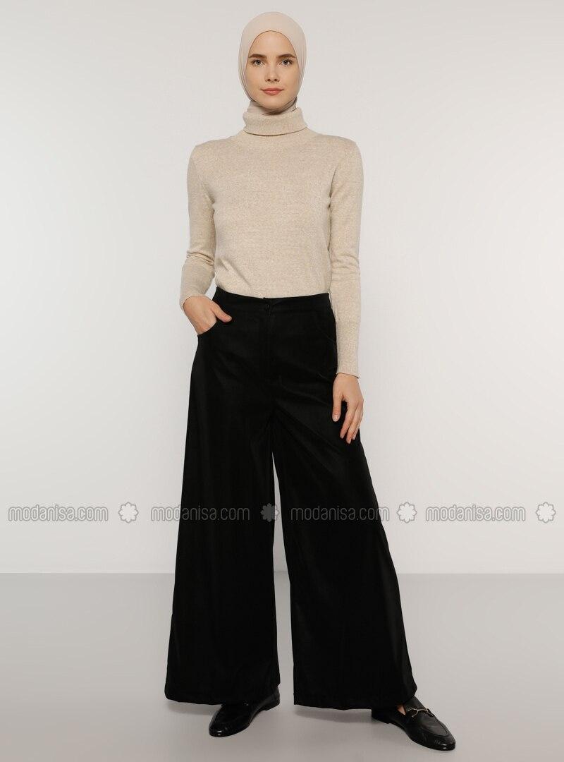 Black - Polyurethane - Polyvinyl Chloride - Pants