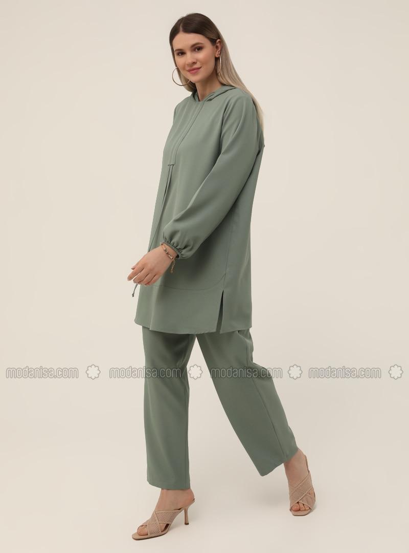 Tunic&Trousers Set - Oil Green