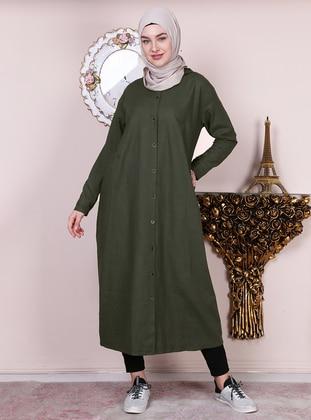 Khaki - Unlined -  - Abaya