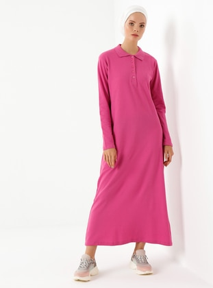 Fuchsia - Polo - Unlined -  - Dress