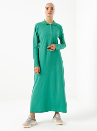 Green - Polo - Unlined -  - Dress