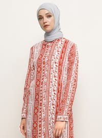 Terra Cotta - Ethnic - Point Collar -  - Tunic