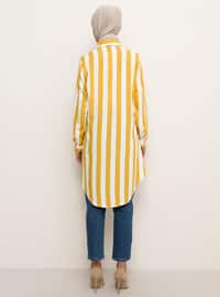 Yellow - Stripe - Point Collar -  - Tunic