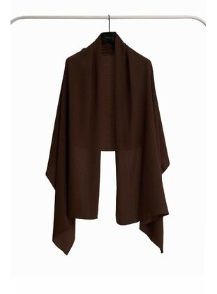 Brown - Plain - Shawl Wrap
