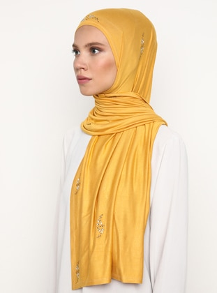 Yellow - Plain - Litho -  - Shawl