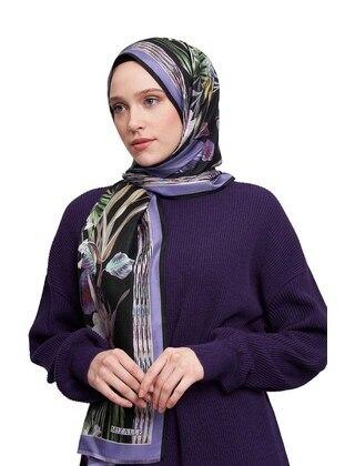 Silk Blend - Blue - Printed - Shawl Wrap