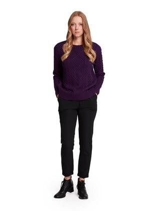 Purple - Knit Sweaters