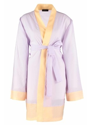 Lilac - Multi - Unlined -  - Abaya