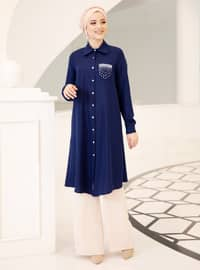 Saxe - Point Collar - Crepe - Tunic - DressLife