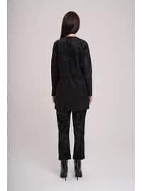 Black - Unlined - Shawl Collar - Blazer - Jacket