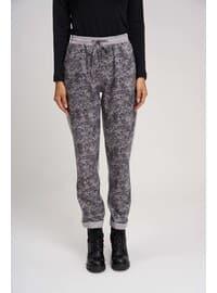 Gray - Multi - Acrylic - - Pants