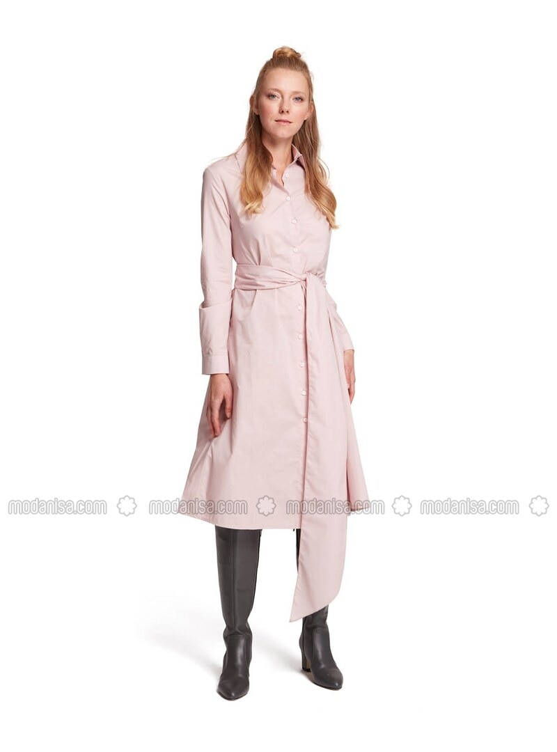 Powder - Point Collar - Unlined - - Dress