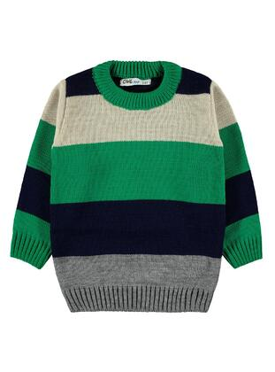 Green - Boys` Pullover - Civil