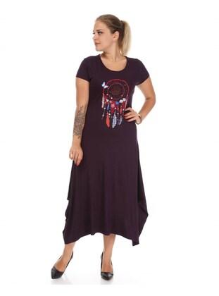 Purple - Plus Size Dress