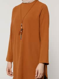Camel - Crew neck - Tunic
