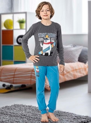 Crew neck -  - Unlined - Boys` Pyjamas