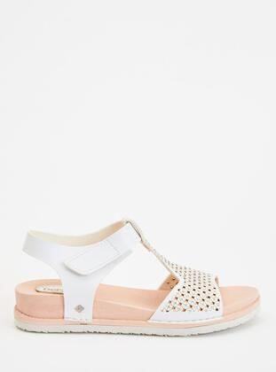White - Girls` Sandals - DeFacto