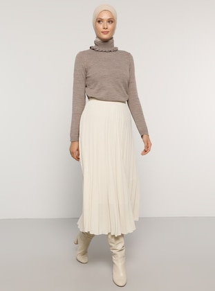 Ecru - Unlined - Skirt - Refka