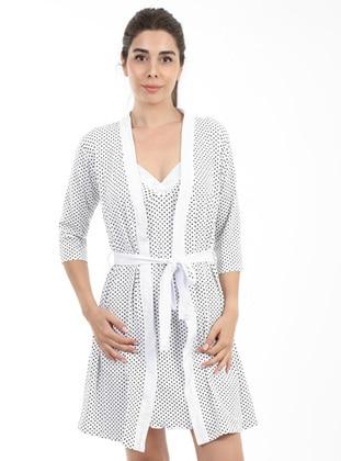 White - - Morning Robe