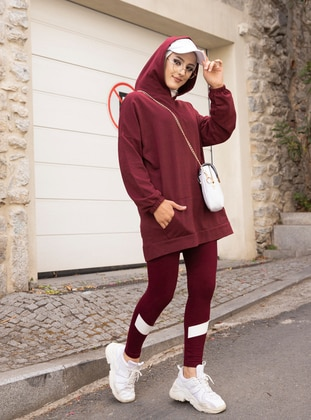 Maroon -  - Gym Leggings