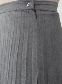 Gray - Unlined - Skirt - Refka
