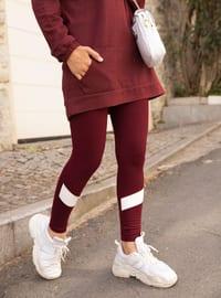 Maroon -  - Gym Leggings