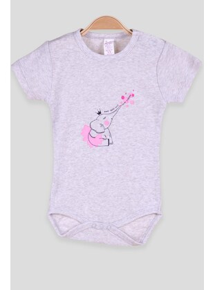 Gray - baby bodysuits - Breeze Girls&Boys