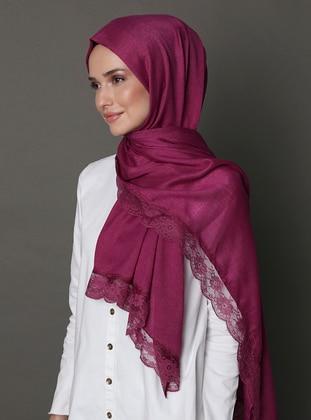 Cherry - Plain - Lace - Shawl