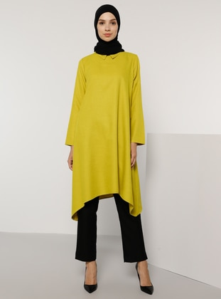 Olive Green - Point Collar - Tunic