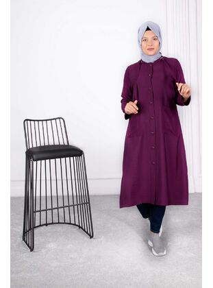 Plum - Plus Size Coat