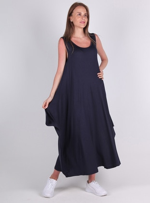 Navy Blue - Viscose - Loungewear Dresses