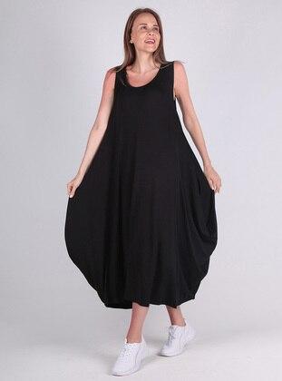 Black - Viscose - Loungewear Dresses