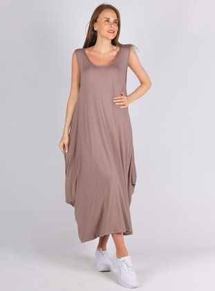 Mink - Viscose - Loungewear Dresses