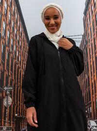 Black - Unlined - Plus Size Coat