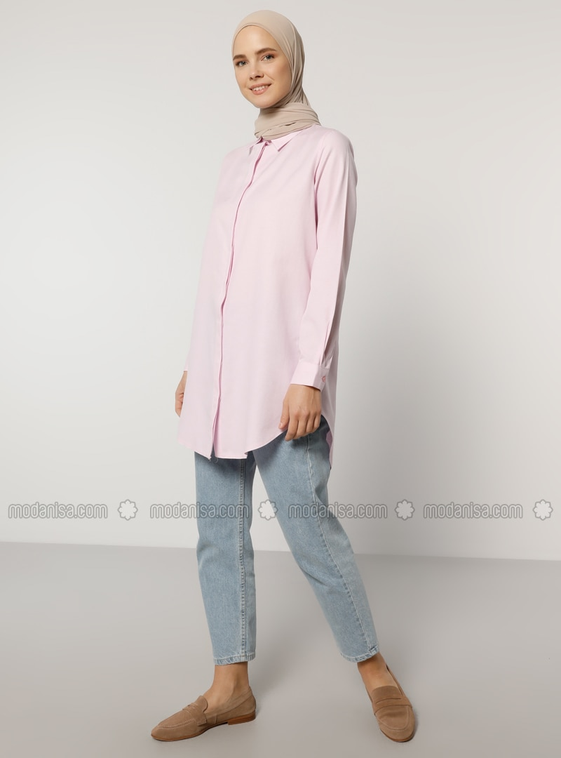 Pink - Point Collar -  - Tunic