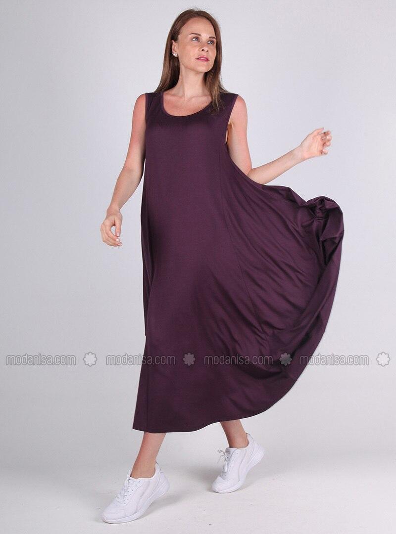 Purple - Viscose - Loungewear Dresses