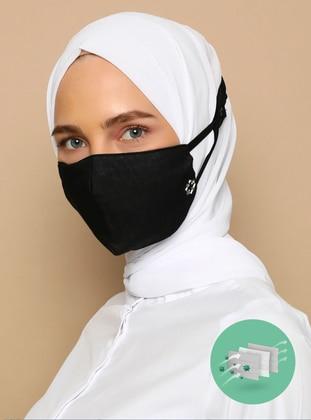 Black - Black - Cotton - Cotton - Black - Mask - Tuva