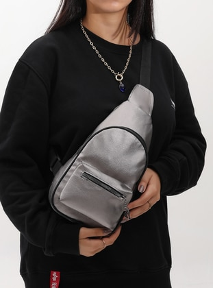 Silver - Crossbody - Satchel - Shoulder Bags