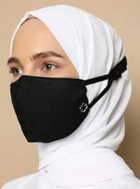 Black - Cotton - Cotton - Black - Mask