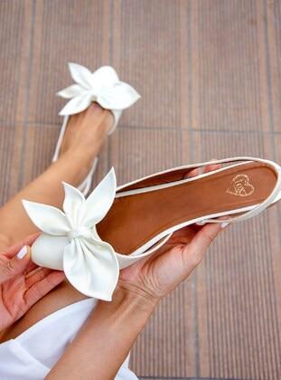 Beige - Flat Shoes - Fox Shoes