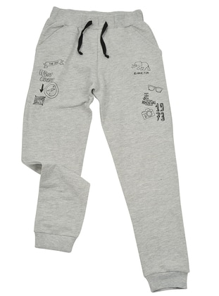 Point Collar -  - Unlined - Gray - Boys` Pants - Zeyland