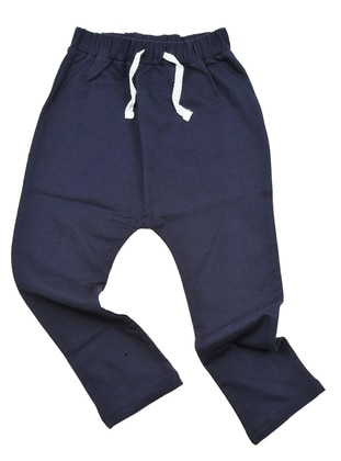 Crew neck -  - Unlined - Navy Blue - Boys` Pants