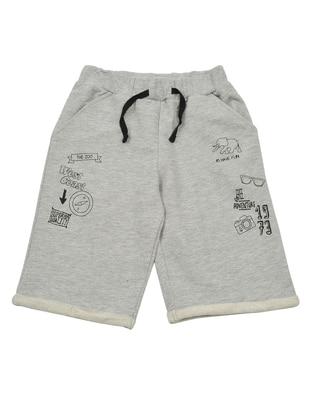 Point Collar -  - Unlined - Gray - Boys` Shorts